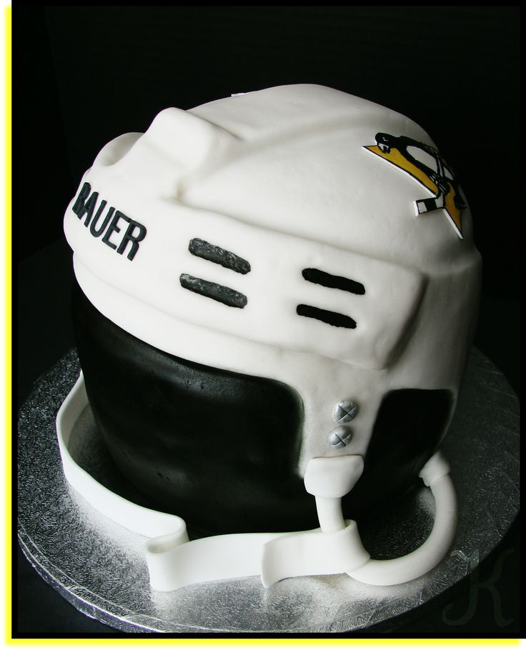 Pittsburg Penguins Helmet - I just made this for a friend of mine - her son is celebrating his birthday today and is a HUGE Sidney Crosby fan so this is my surprise for him :)  Hope he likes it!!  TFL (THX the Peecheekeno for the inspiration and instructions for this)
