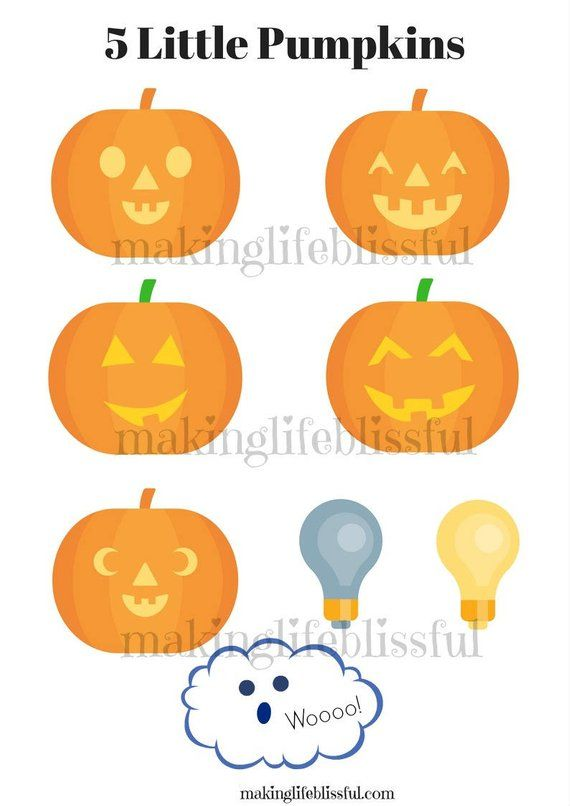 It is a graphic of 5 Little Pumpkins Printable within easy