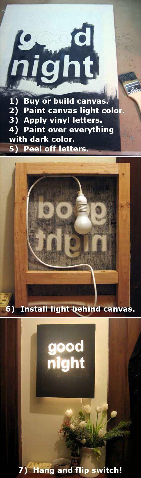 #DIY #nightlight #craft http://wallsthatspeak.uppercaseliving.net/Home.m