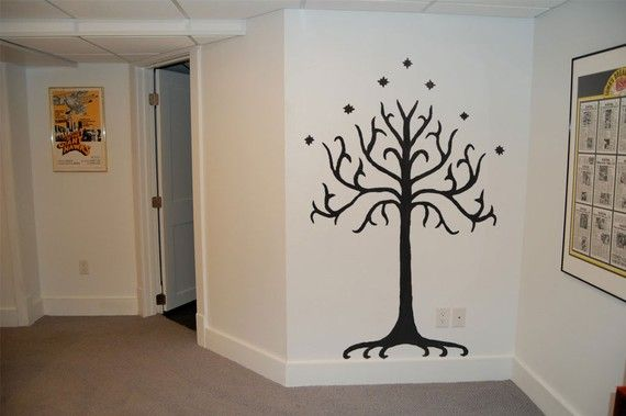 Lord of the Rings Tolkien Tree of Gondor by thecrookedcauldron, $44.99 must have this in nursery! zomg