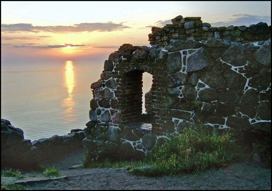 Hammershus ruins in Danish Island of Bornholm