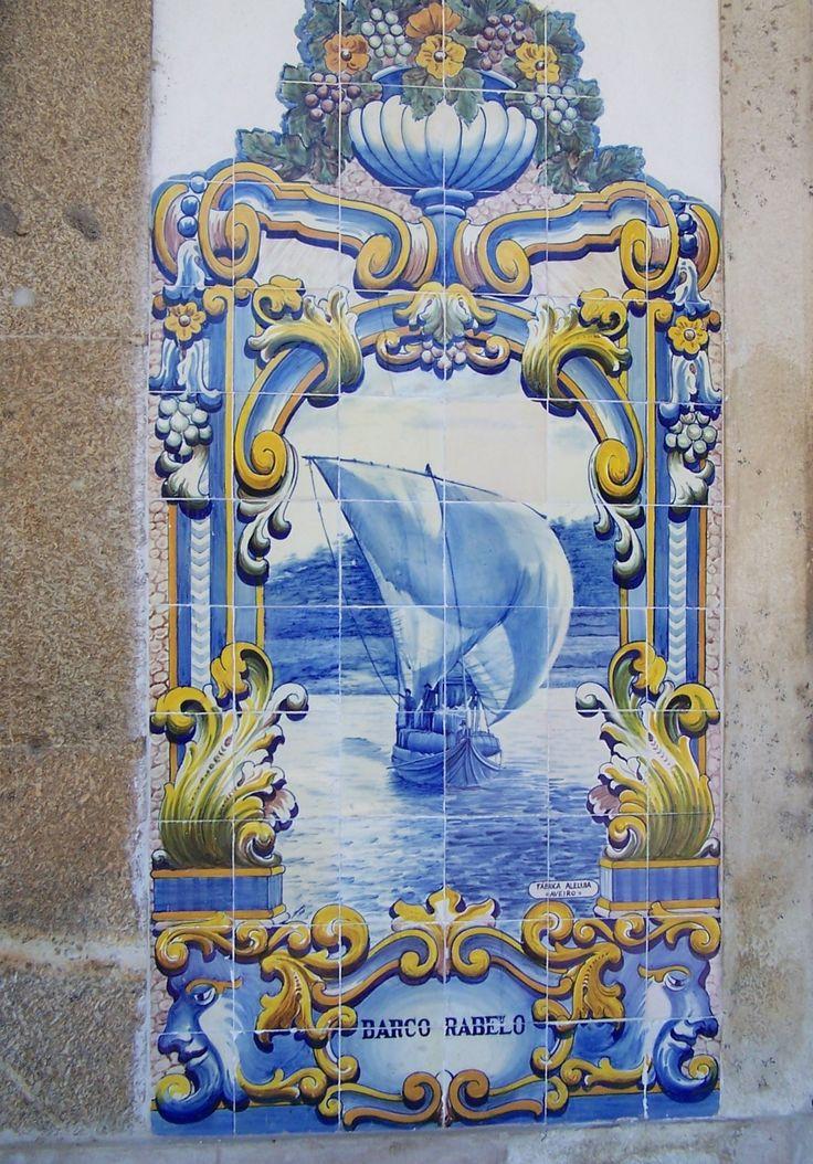 Barco Rabelo Azulejos da Estação do Pinhão