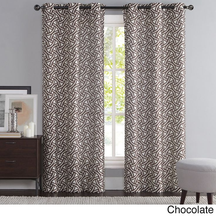 Vcny Edison Printed Faux Silk Curtain Panel