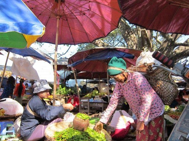 Vegetable market in Myitkyina, Myanmar