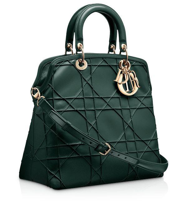 "DIOR GRANVILLE - Vert Anglais leather ""Dior Granville"" bag"