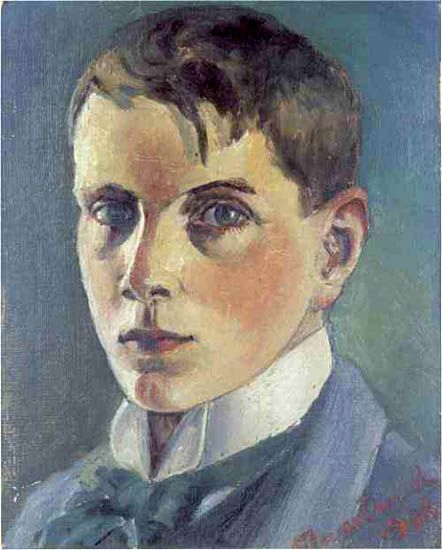 Nils von Dardel, Självporträtt (Self Portrait), 1906, oil on canvas