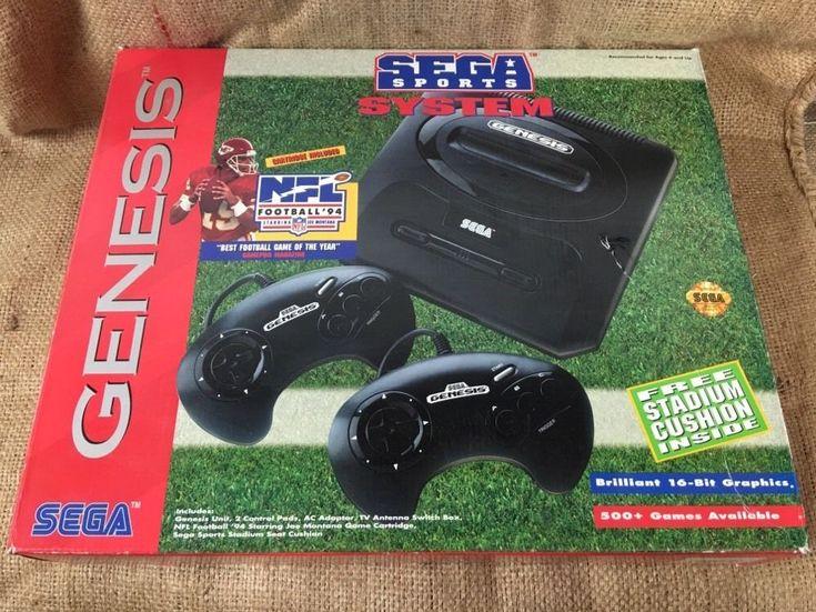 Sega Genesis Video Game System in Sega Sports Box includes Sports Talk Baseball   Video Games & Consoles, Video Game Consoles   eBay!