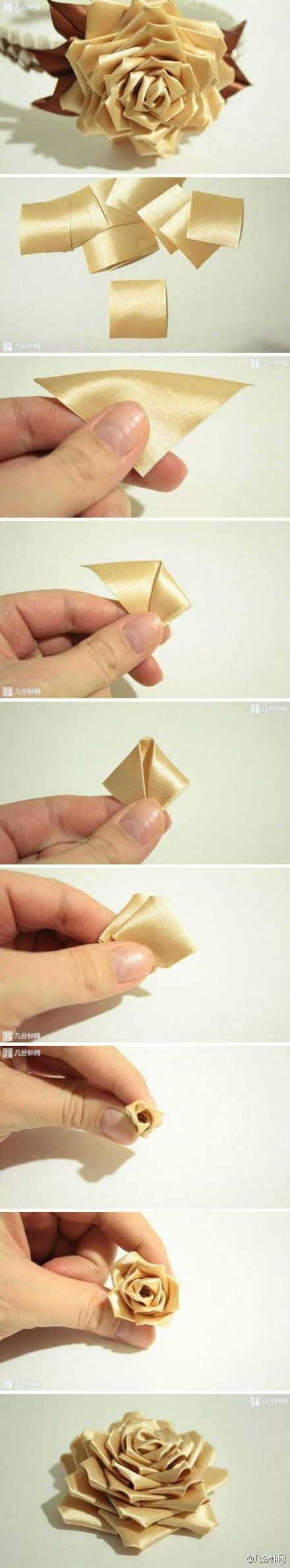 DIY Ribbon Modular Rose DIY Projects