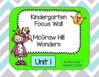 Kindergarten Focus Wall for McGraw-Hill Wonders Reading Series