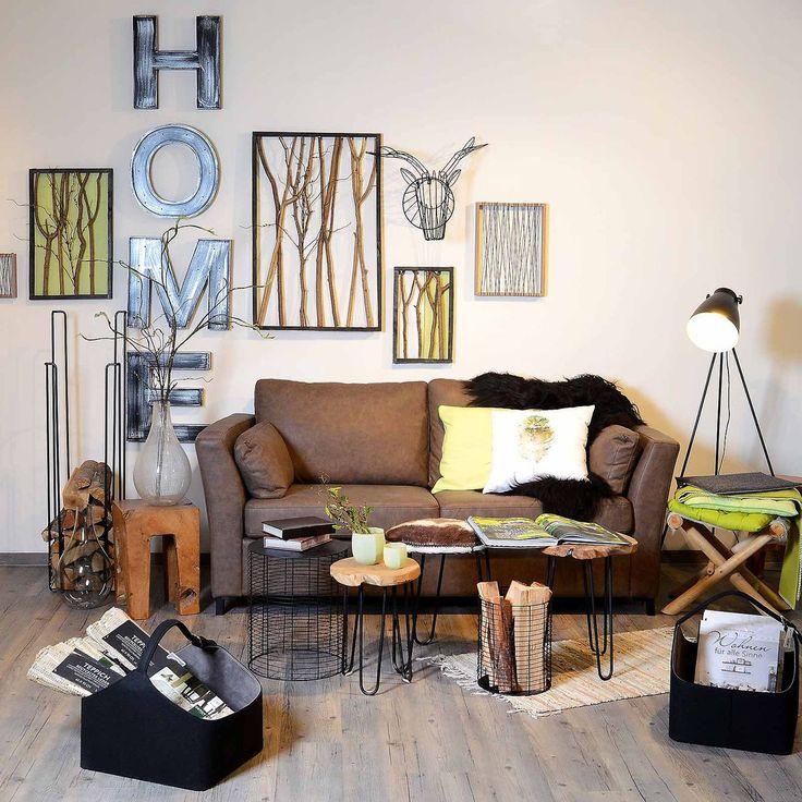 Ber ideen zu braunes sofa auf pinterest wandfarbe braun couch und megasofa Wohnzimmer braunes sofa