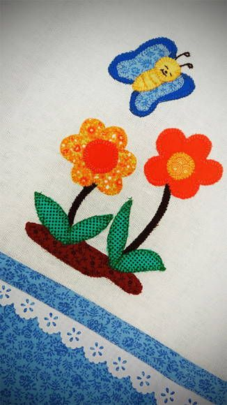 Pano de Prato em Patchwork - Flores