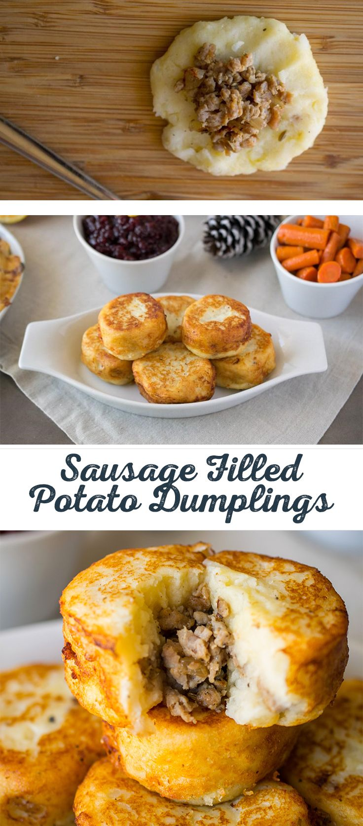 Hungry for meat and potatoes? This tasty dish serves up dumplings in a delicious and creative way! Tennessee proudly serves up these Sausage Filled Potato Dumplings—as a great side dish or appetizer—and you will too. #Tennessee