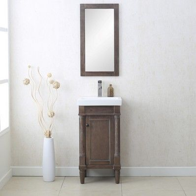 Photos Of Nora Traditional Single Sink Bathroom Vanity in Weathered Grey by Legion Furniture Discount