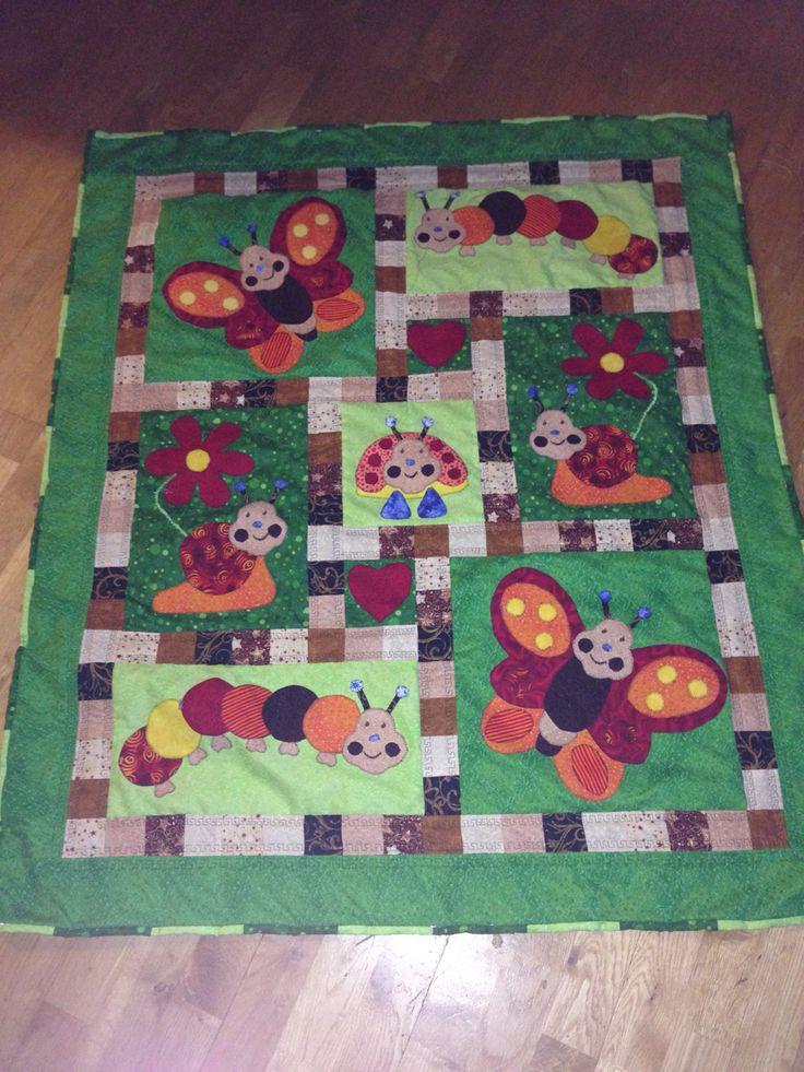 Patchwork quilt for a newborn