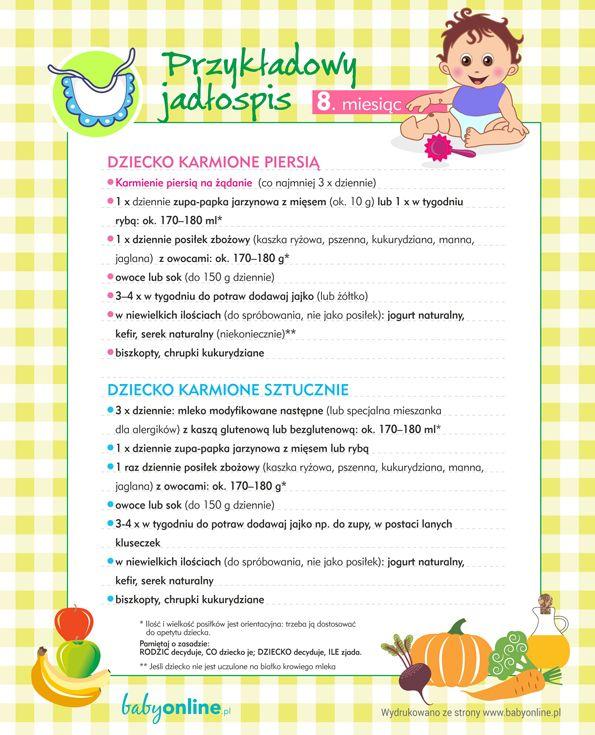 Rozszerzanie diety: jadłospis dla niemowlęcia w 8. miesiącu | Babyonline.pl