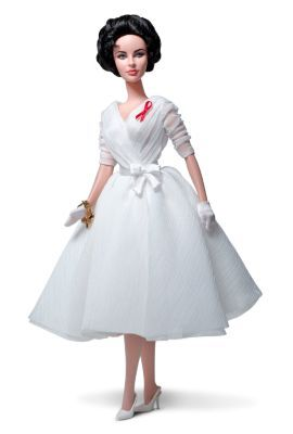 Elizabeth Taylor White Diamonds Doll | The Barbie Collection