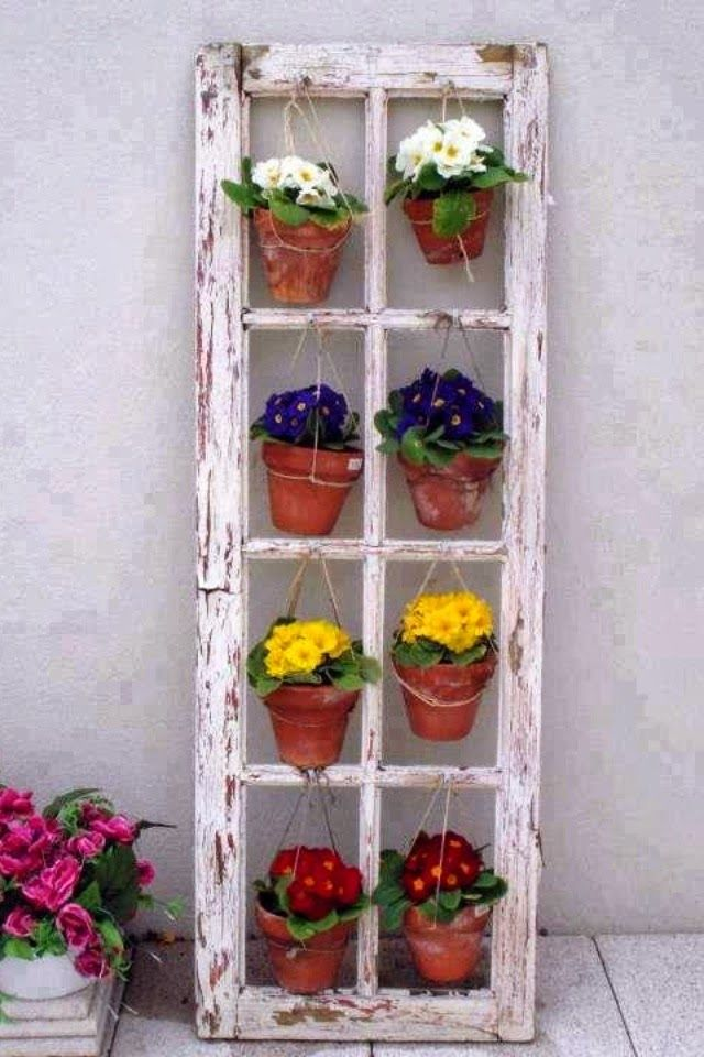 balkon ideen-vintage blumendeko