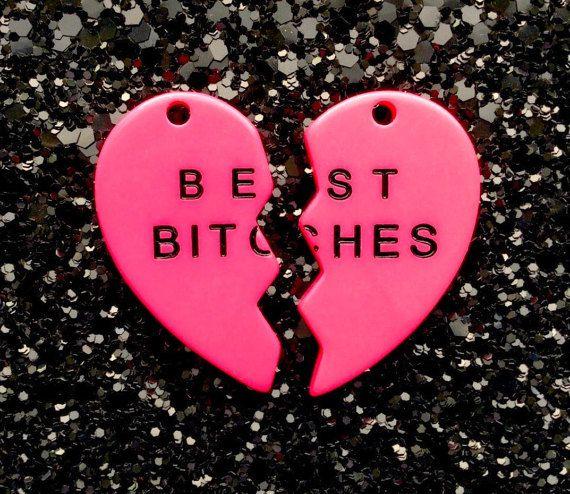 Best Bitches Broken Heart Resin Charms Pendants   35mm  Hot