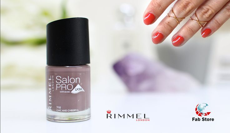 Rimmel Salon Pro Nail Polish Up to 10 days chip resistant nail colour with gel shine finish! Including amazing shades created by Kate Moss. Includes our precision maxi brush for salon perfection! Ultra flexible Lycra formula; colour is shock proof, chip resistant and anti-fading. Now available at Fab Store Beauty outlet in Spinneys the Pearl Qatar-Madinat Centrale.