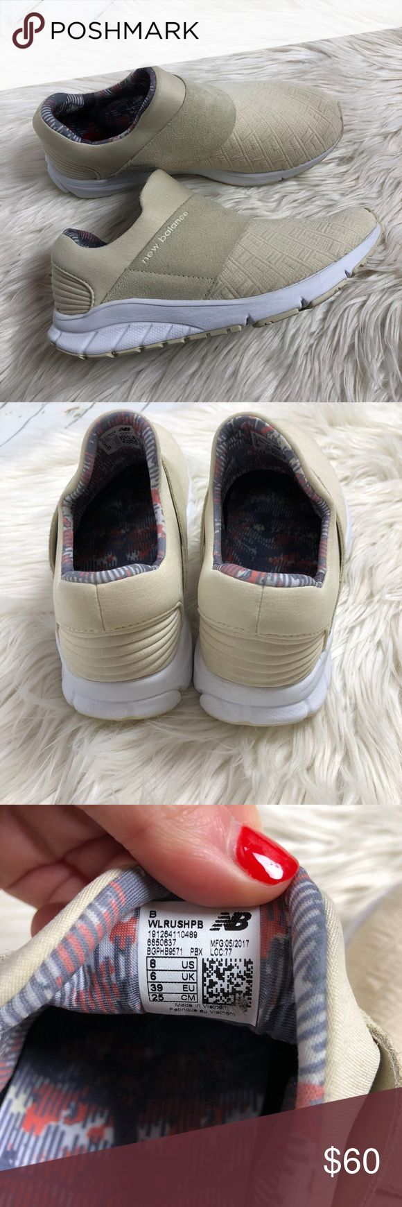 NEW New Balance Rush Slip on sneaker bone New Balance Rush Women's Slip on sneakers. bone off white color. size 8. new without box. some marks to shoes from store New Balance Shoes Sneakers