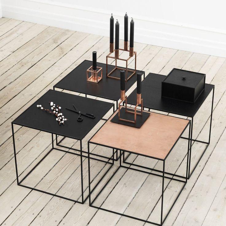 Svenssons i Lammhult - Möbler - Småbord / Twin table / vändbar skiva, koppar - svart