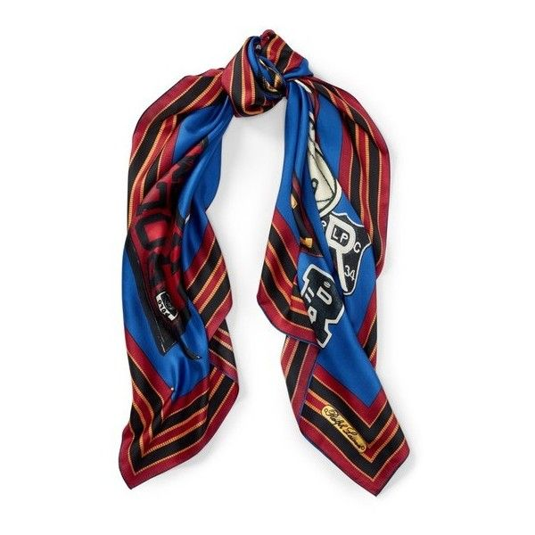 Polo Ralph Lauren Polo Crest Silk Scarf ($50) ❤ liked on Polyvore featuring accessories, scarves, navy, silk scarves, polo ralph lauren scarves, navy scarves, polo ralph lauren and silk shawl