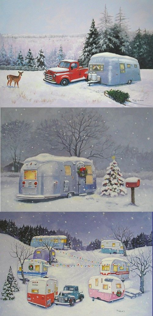 60 best images about vintage airstream on pinterest for Airstream christmas decoration