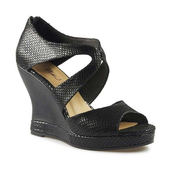 Wedding Shoes Australia: Buy Black Snake Heels Dress Sandals