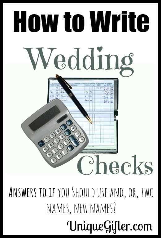 Cheque Mate Wedding Check Writing Tips Financial For Weddings Pinterest Gifts And