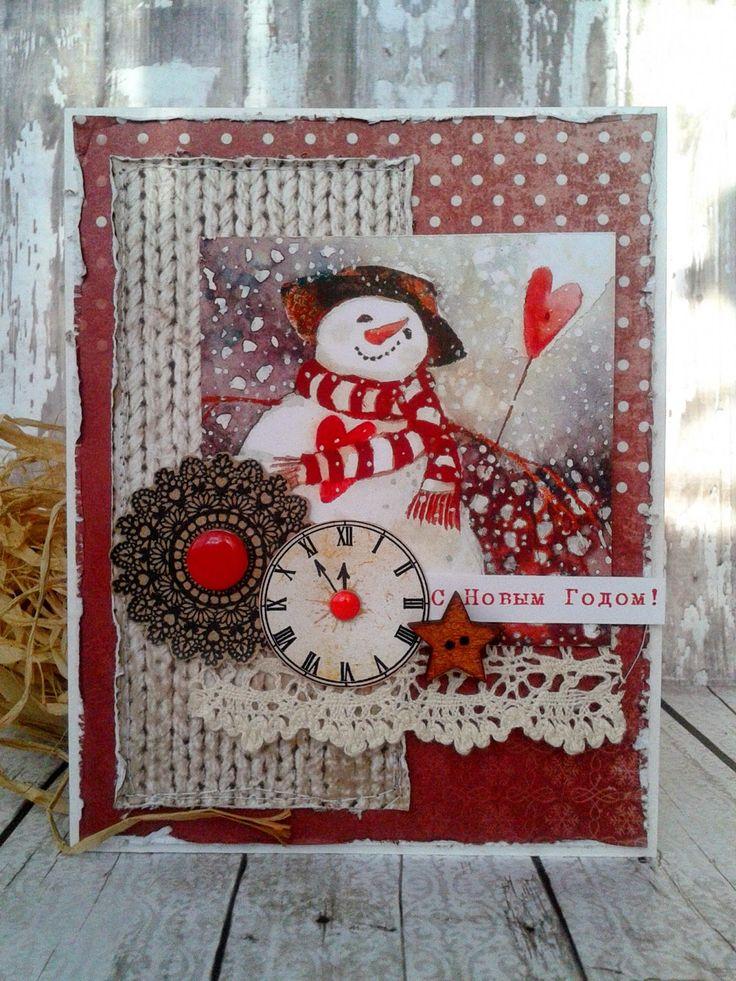 вещь новогодние открытки со снеговиками скрапбукинг альбом предоставляет