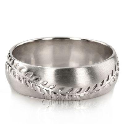 Baseball Design Wedding Ring