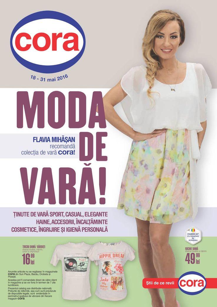 Catalog Cora Moda de Vara (tinute de vara sport, casual, elegante, haine, accesorii, incaltaminte) 18 Mai - 1 Iunie 2016!