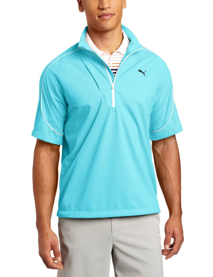 Puma Mens Knit Wind Short Sleeve Jackets