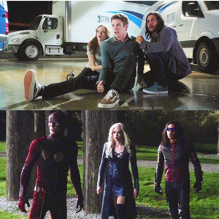 Team Flash Then and now #killerfrost #CaitlinSnow #TheFlash #BarryAllen #vibe #CiscoRamon #dctv