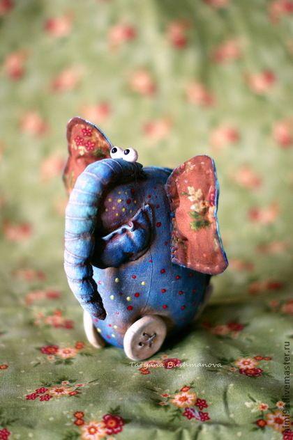 Харитон от Белозёровой Татьяны (BizWoo) 13 см. Кофе, корица, ткань, паперклей, акрил