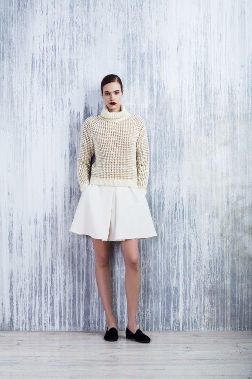 LUBLU Kira Plastinina FW14/15 cream knit sweater and knit skirt.