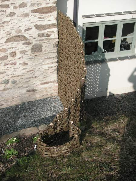 Jay Davey Bespoke Willow - Insitu weaving