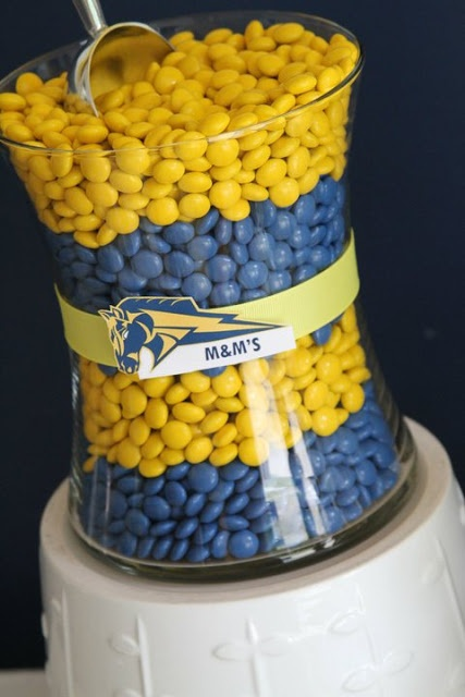 candy buffet ideas...MHS...blue and gold