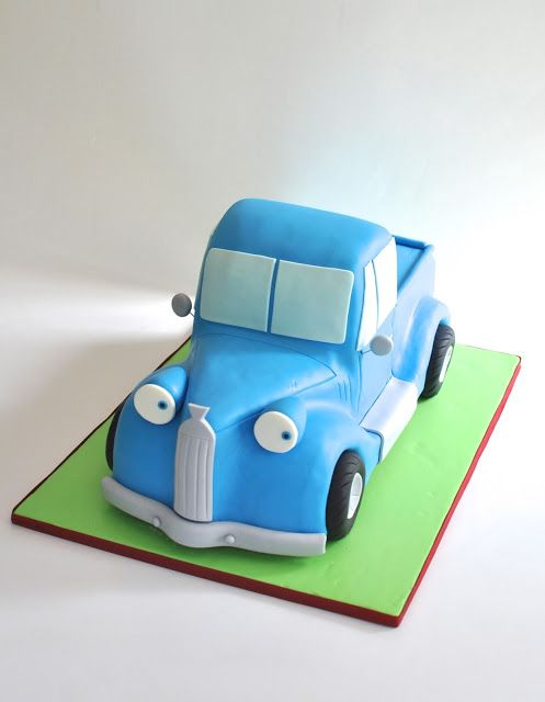 Little Blue Truck Cake, Great turtorial on how to make this. hopessweetcakes.com, Hope's Sweet Cakes