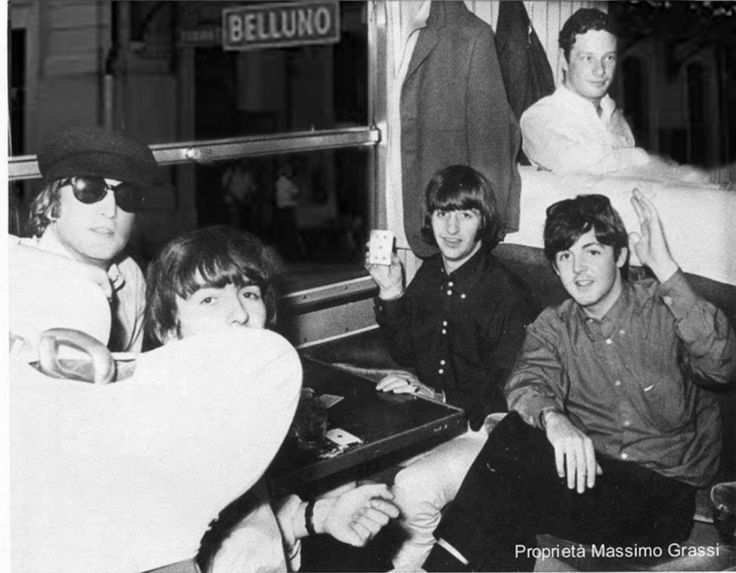 23rd June 1965. The Beatles traveling from France to Italy for more European tour dates.
