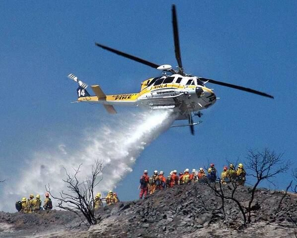 Fire Fighting Bell Helicopter.