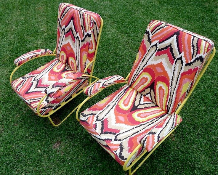 Kx The Small Garden Vintage Palm Springs Citrus Chairs