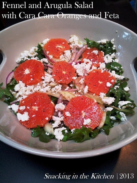 Fennel and Arugula Salad with Cara Cara Oranges and Feta Cheese # ...