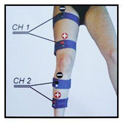 Kit 8 bandas conductivas elasticas Fitness Top para piernas completas