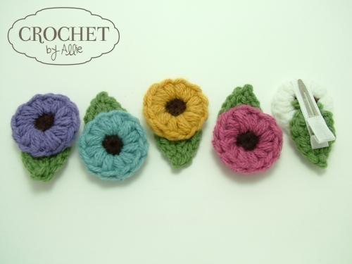 crochet flower clipCrochet Flower