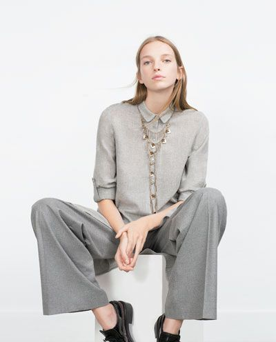 Image 3 of TUNIC WITH SHIRT-STYLE COLLAR from Zara