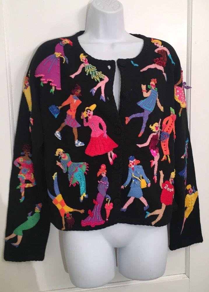 Michael Simon модная женская рабочая кардиган размер l черный винтаж 2000 дамы карьеры   Одежда, обувь и аксессуары, Одежда для женщин, Свитера   eBay!