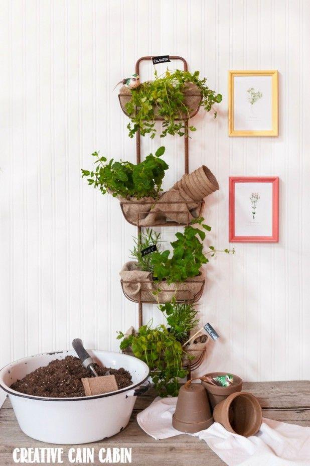 Decor Steals Design Ingenuity Event   Rustic Wall Basket Hanger {Giveaway. Vertical  Herb GardensIndoor ...