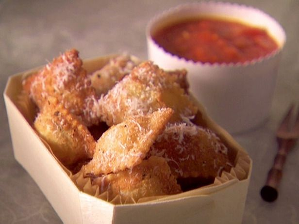 Fried Ravioli (with marinara for dipping). I make this all the time as an appetizer. The hubby loves it!