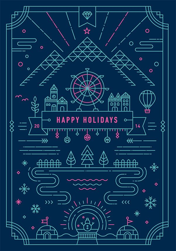 HOLIDAY GREETING CARD BY YIWEN LU